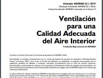 Directriz ASHRAE 62.1 – 2019
