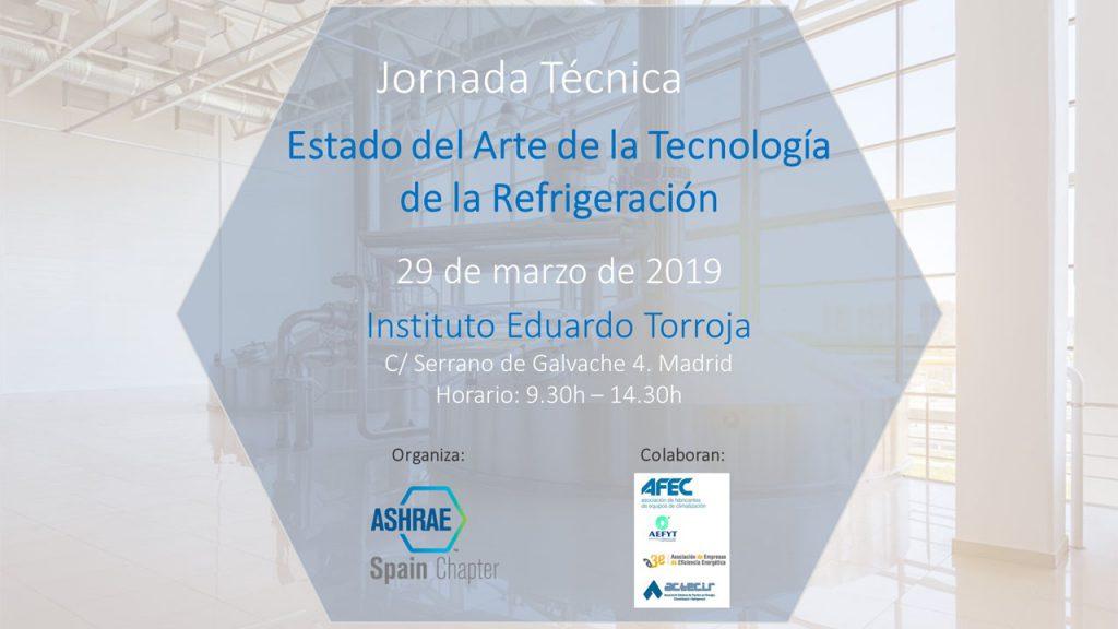 Jornada Estado del Arte de la Tecnología de la Refrigeración