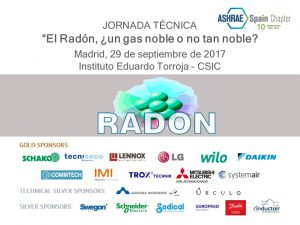 JORNADA TÉCNICA – EL Radón, ¿un gas noble o no tan noble?